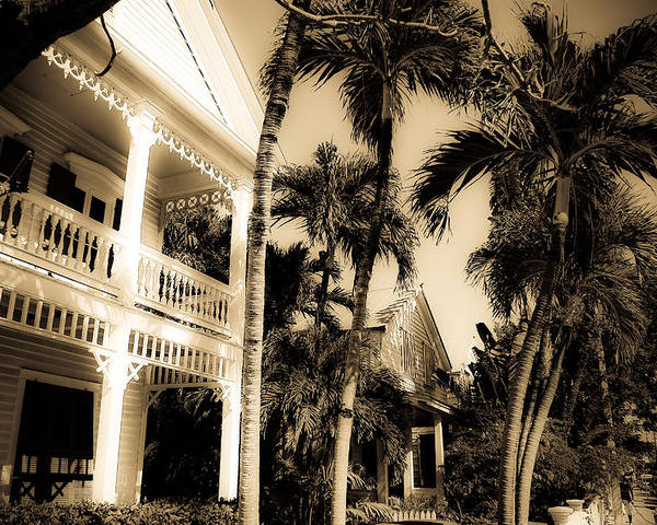 Florida Poster featuring the photograph Key West House by Patrick Flynn