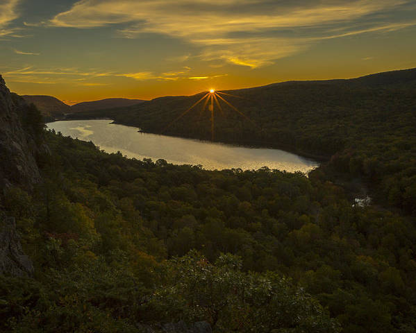 Fall Poster featuring the photograph Lake Of The Clouds Sunrise by Jack R Perry