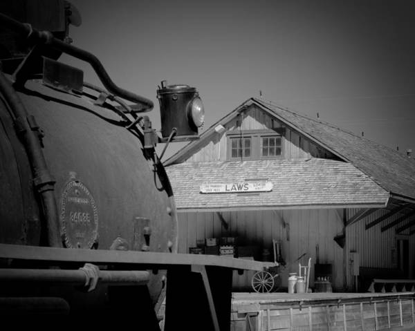 Antique Poster featuring the photograph Laws Depot And Locomotive 9 by Troy Montemayor