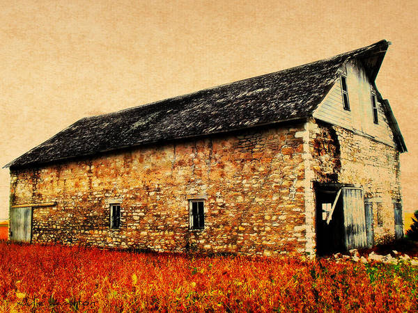 Barn Poster featuring the photograph Lime Stone Barn by Julie Hamilton