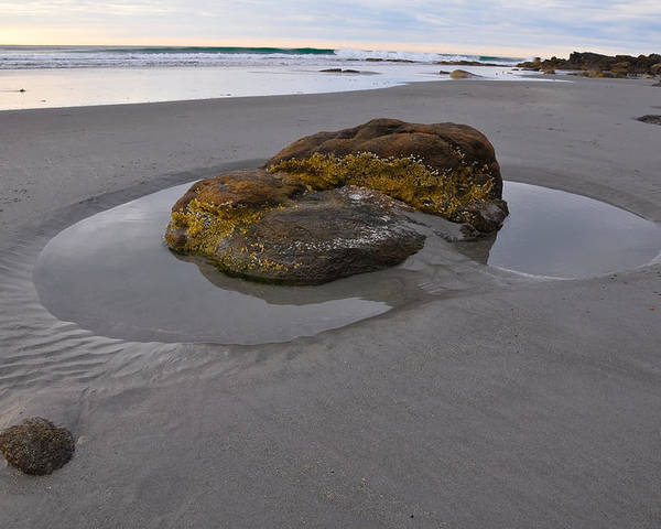Maine Poster featuring the photograph Longsands Rock by Catherine Easton