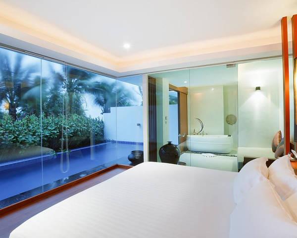 Resort Poster featuring the photograph Luxury Bedroom by Setsiri Silapasuwanchai