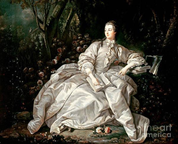 Madame Poster featuring the painting Madame De Pompadour by Francois Boucher