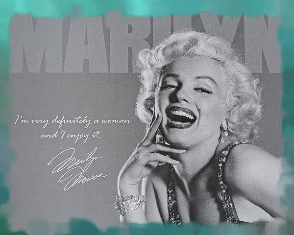 Marilyn Monroe Poster featuring the photograph Marilyn Monroe by Donna Kennedy