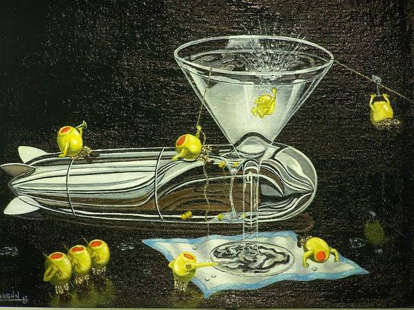 Poster featuring the painting Martini Military by Charles Vaughn