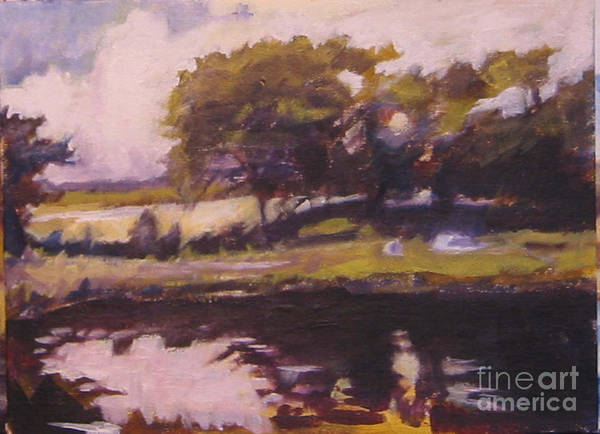 Landscape Irish Poster featuring the painting Mayo Landscape by Kevin McKrell