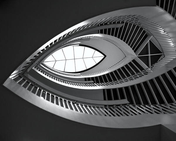 Staircase Poster featuring the photograph Mca Staircase by Sheryl Thomas