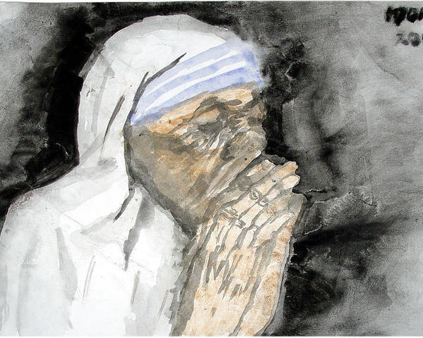 Mother Teresa Poster featuring the painting Miracle Mother by Rooma Mehra