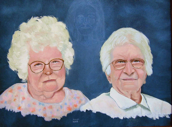 Double Portrait Poster featuring the painting MotherLove by Stan Hamilton