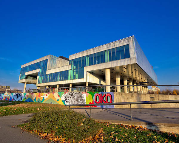 Contemporary Poster featuring the photograph Museum Of Contemporary Art In Zagreb Exterior by Brch Photography