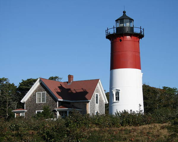 Lighthouse Poster featuring the photograph Nauset Lighthouse by Gina Cormier