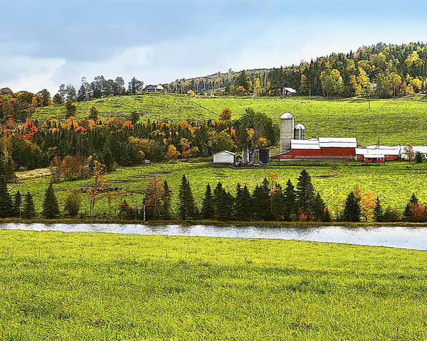 New England Poster featuring the photograph New England Farm by Betty LaRue