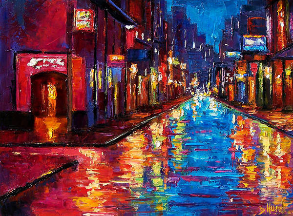 New Orleans Art Poster featuring the painting New Orleans Magic by Debra Hurd