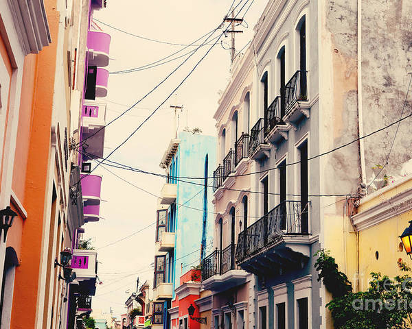 San Juan Poster featuring the photograph Old San Juan Puerto Rico by Kim Fearheiley