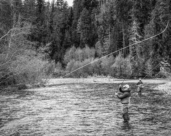 Flyfishing Poster featuring the photograph On the River by Jason Brooks