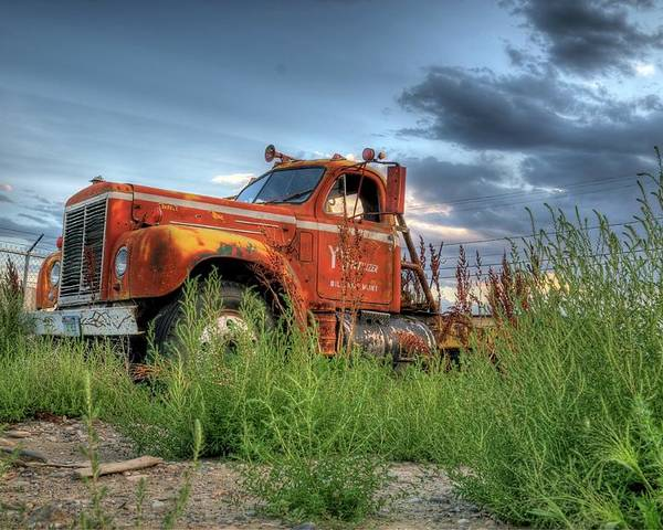 Truck Poster featuring the photograph Orange Truck by Dave Rennie