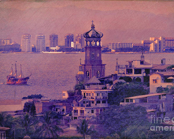 Puerto Vallarta Poster featuring the photograph Our Lady Of Guadalope In Puerto Vallerta Mexico. Banderas Bay. by George Robinson
