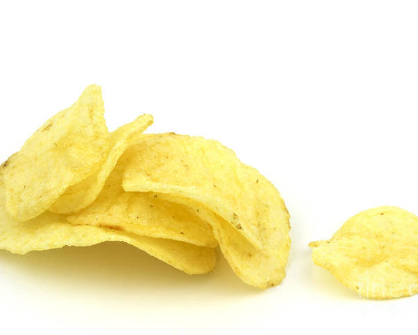 Potato Poster featuring the photograph Potato Chips by Blink Images