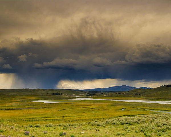 Yellowstone Poster featuring the photograph Rain Sky by Patrick Flynn