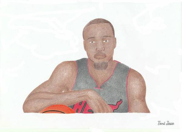 Basketball Poster featuring the drawing Rashard Lewis by Toni Jaso