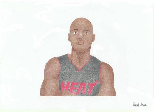 Basketball Poster featuring the drawing Ray Allen by Toni Jaso