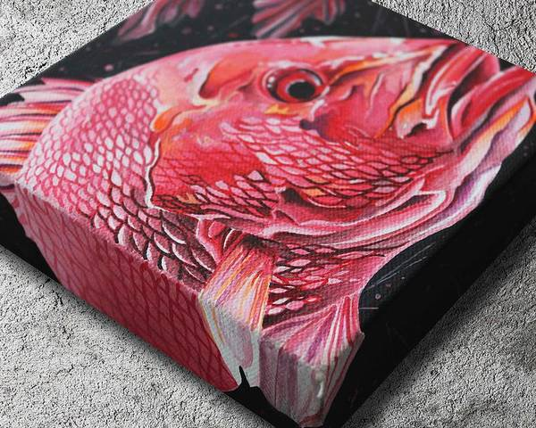 Red Snapper Poster featuring the painting Red Snapper by William Love
