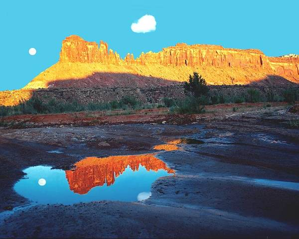 Red Rock Poster featuring the photograph Reflective Intentions by John Foote
