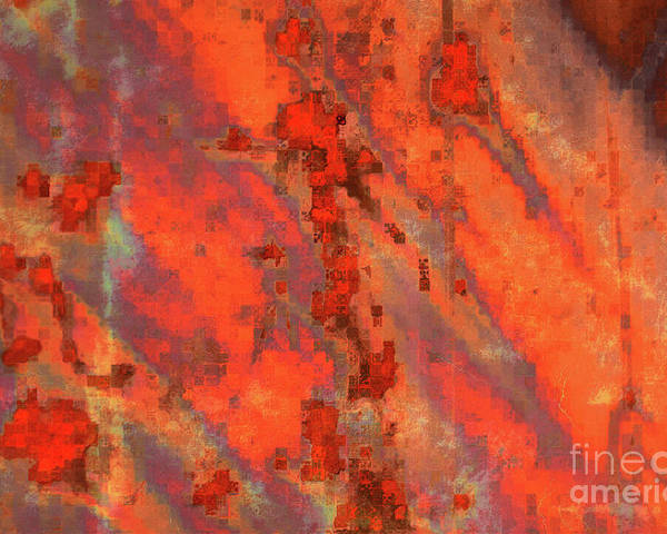 Digital Art Poster featuring the photograph Rust Abstract by Carol Groenen