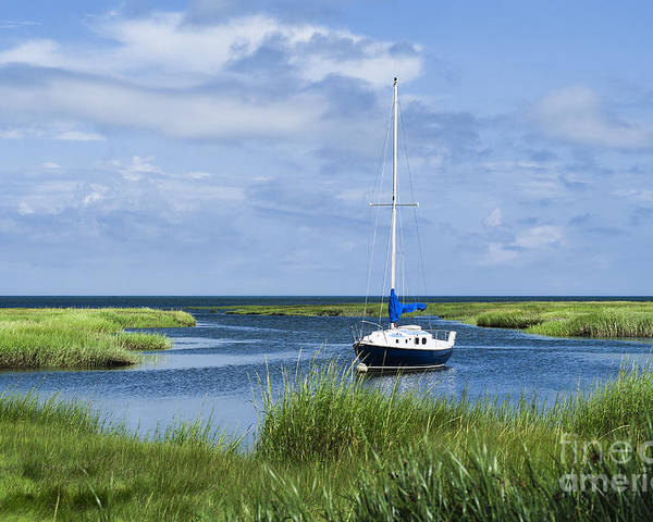 Cape Cod Poster featuring the photograph Sailboat Salt Marsh by John Greim