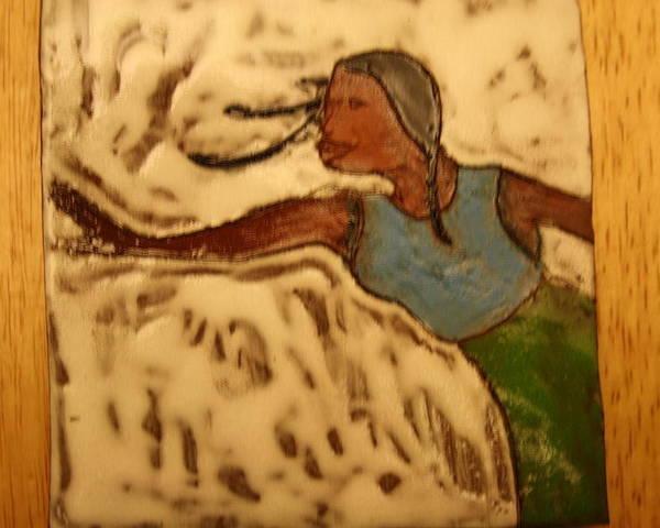 Jesus Poster featuring the ceramic art Selma - Tile by Gloria Ssali
