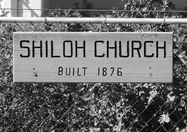 Antique Poster featuring the photograph Shiloh Church Sign Birds Landing Ca by Troy Montemayor