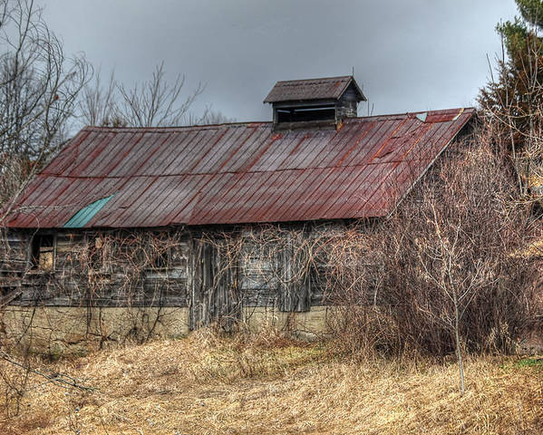 Rcouper Poster featuring the photograph Small Barn by Rick Couper