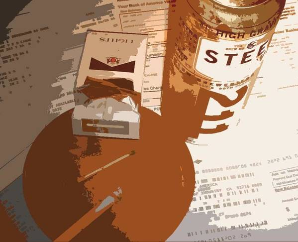 Credit Poster featuring the photograph Steel Reserve by Jennifer Ott
