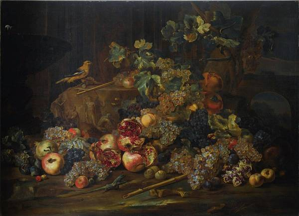 Michele Pace Poster featuring the painting Still Life With Fruit by MotionAge Designs