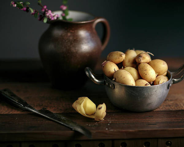 Potato Poster featuring the photograph Still Life With Potatoes by Nailia Schwarz