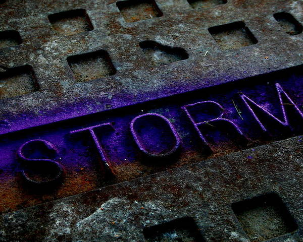 Abstract Poster featuring the photograph Storm by Erika Lesnjak-Wenzel