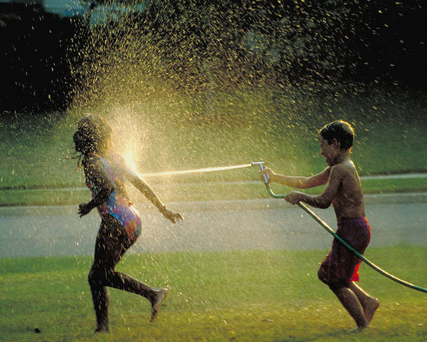 Hose Poster featuring the photograph Summer Fun by Carl Purcell