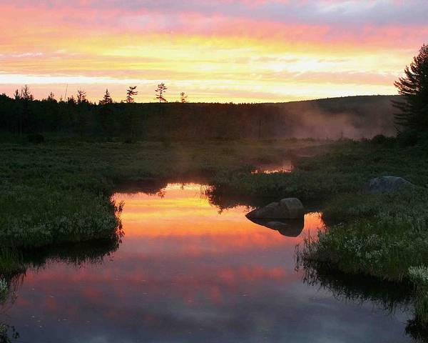 Maine Poster featuring the photograph Summer Sunrise In Maine by Brian M Lumley