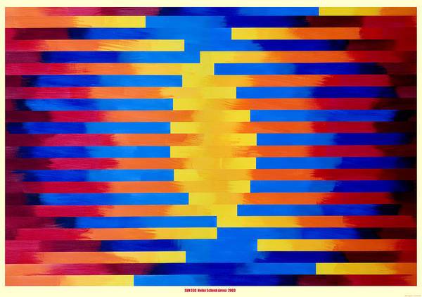 Collage Poster featuring the mixed media Sun Egg by Heike Schenk-Arena