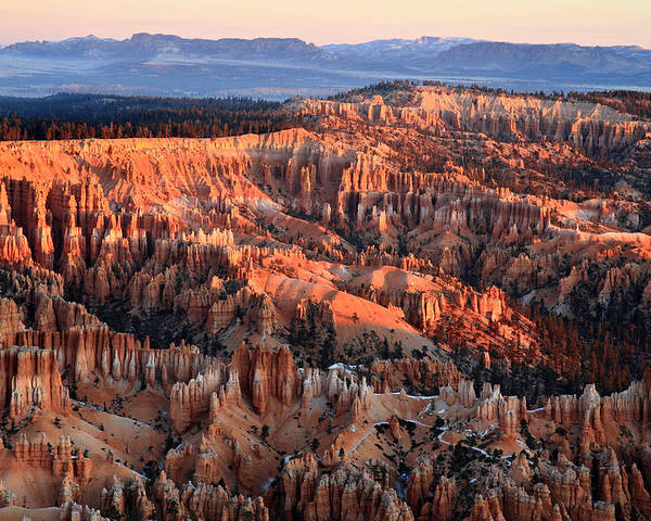 Bryce Poster featuring the photograph Sunrise In Bryce Canyon by Pierre Leclerc Photography