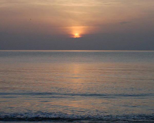 Sunrise Poster featuring the photograph Sunrise In Vero Beach by Michael Vanatta