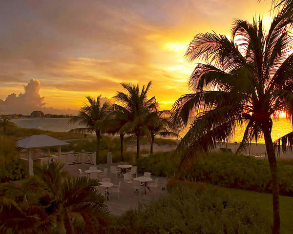 Sunset Poster featuring the photograph Sunset On Grace Bay by Stephen Anderson