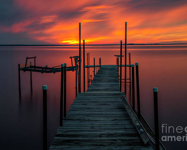 Sunset Poster featuring the photograph Sunset On The Bay by Randy Kostichka