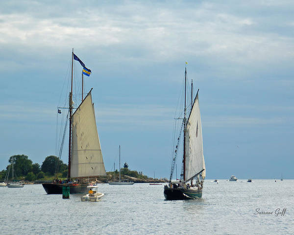 Tall Ships Poster featuring the photograph Tall Ships Sailing I by Suzanne Gaff