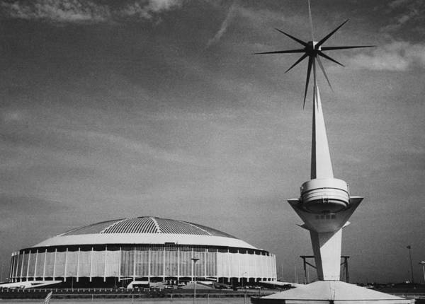 1960s Candids Poster featuring the photograph The Astrodome Aka The Eighth Wonder by Everett