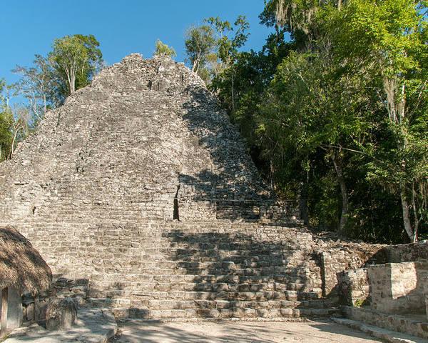 Mexico Quintana Roo Poster featuring the digital art The Church At Grupo Coba At The Coba Ruins by Carol Ailles