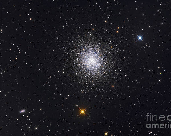 M13 Poster featuring the photograph The Great Globular Cluster In Hercules by Roth Ritter