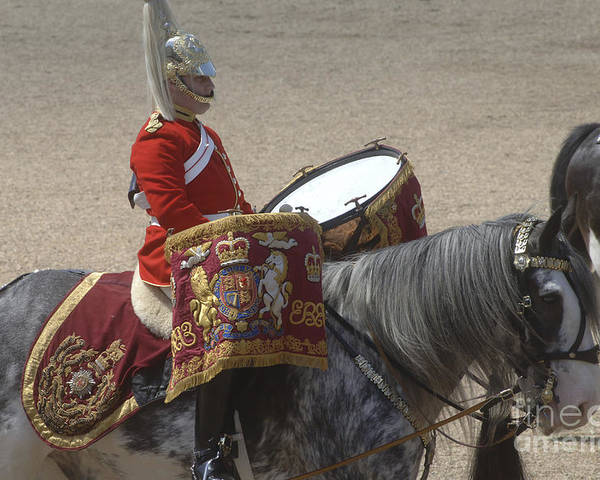 Cap Poster featuring the photograph The Kettledrums Of Household Cavalry by Andrew Chittock