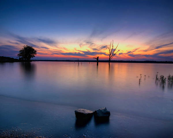 Landscape Poster featuring the photograph The Lakeside by Ryan Heffron