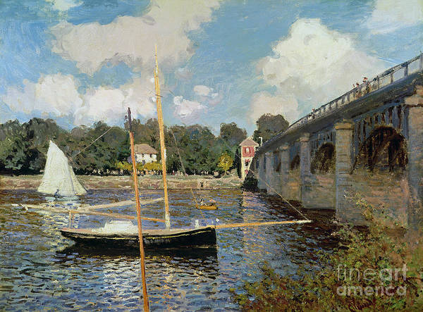 Boat Poster featuring the painting The Seine At Argenteuil by Claude Monet